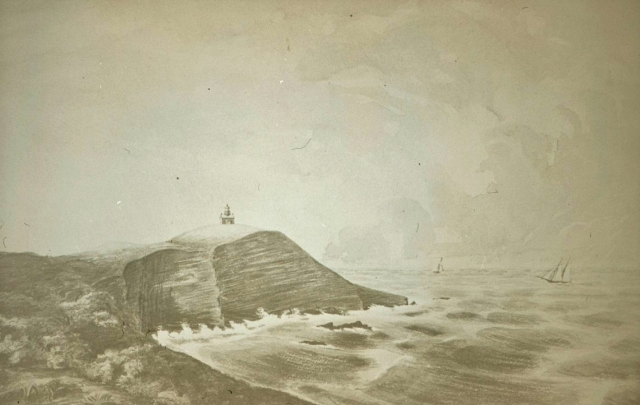 Point Conception Lighthouse 1859 Drawing by Major Hartman Bache, inspectof of the 12th Lighthouse District.