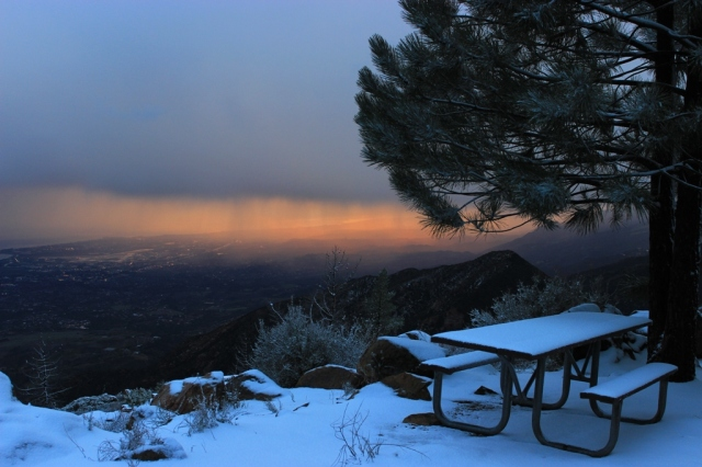 La Cumbre Peak snow
