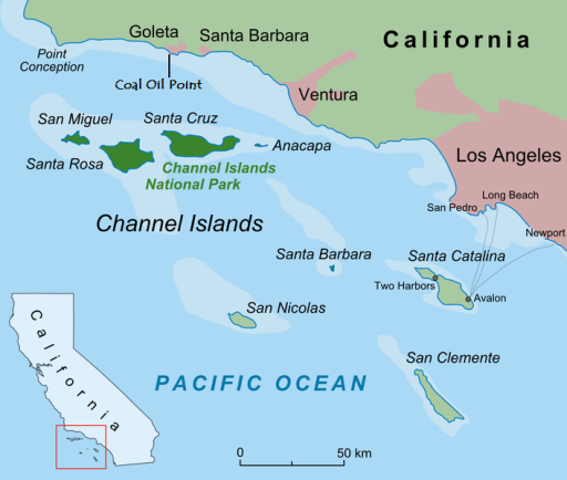 Santa Barbara Channel Map
