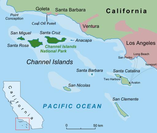 Santa Barbara Channel Map
