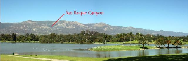 San Roque Canyon from Laguna Blanca in Hope Ranch