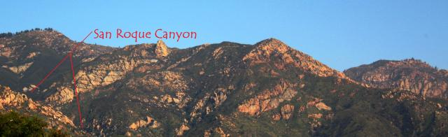 San Roque Canyon, Santa Ynez Mountains