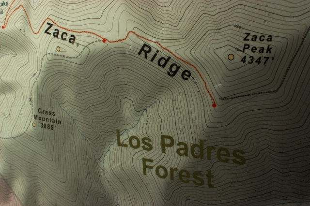 Zaca Peak Grass Mountain map