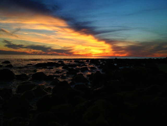 Santa Barbara beach sunset