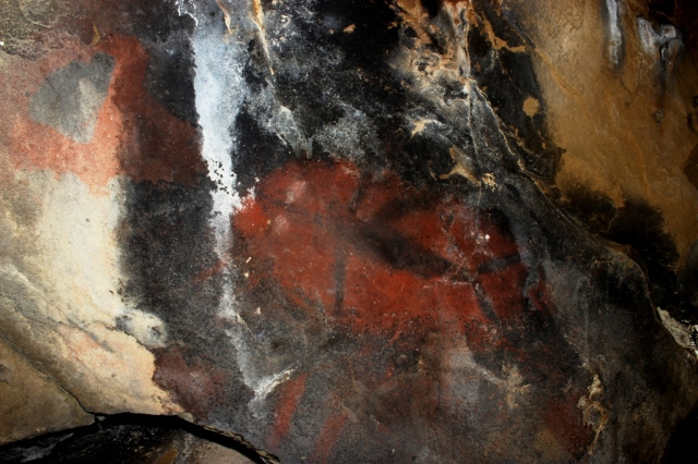 Chumash rock art pictograph swordfish cave