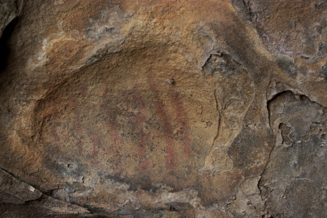 Chumash rock art pictograph