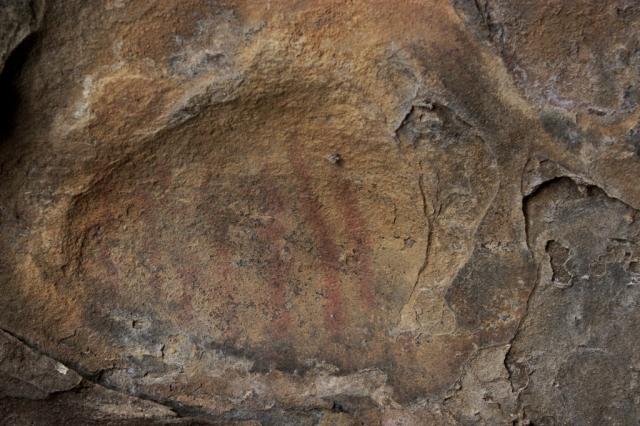 Chumash rock art pictograph