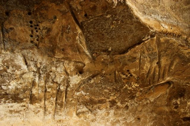 Chumash swordfish cave incised marks