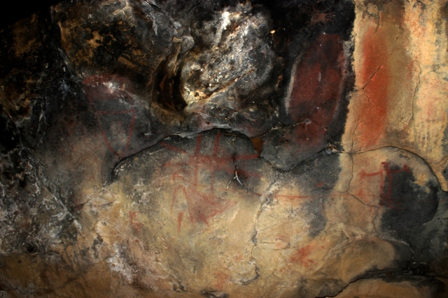 Chumash swordfish Cave rock art
