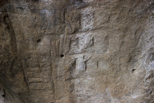 swordfish cave Chumash incised marks