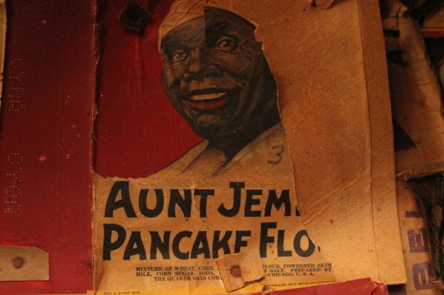 Aunt Jemima historic pancake label