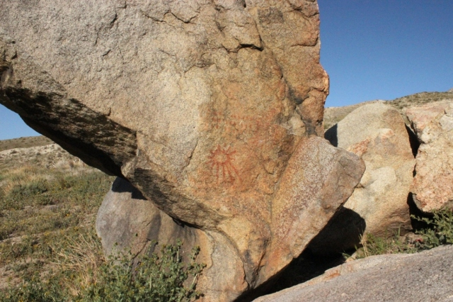 Indian rock art Kern County