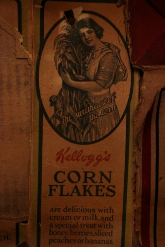 Kellogg's Corn Flakes historic label