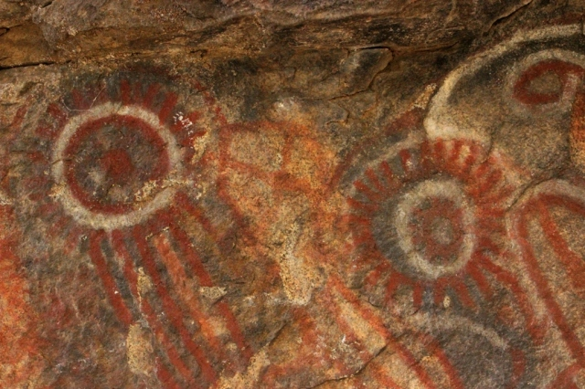 Native American pictographs Kern County