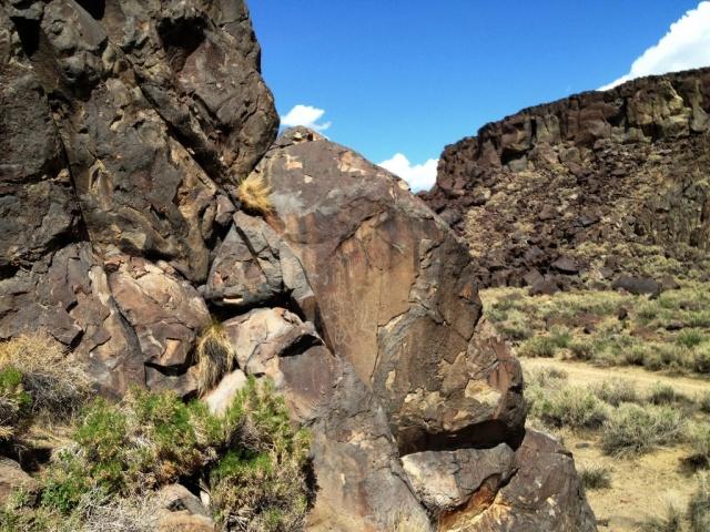 Petroglyphs Fossil Falls Coso