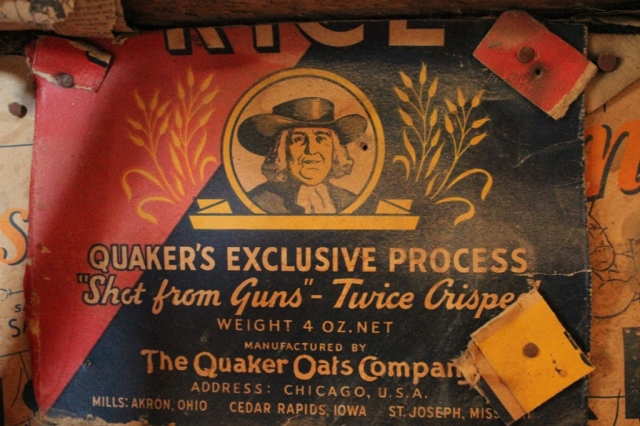 Quaker Oats historic vintage label