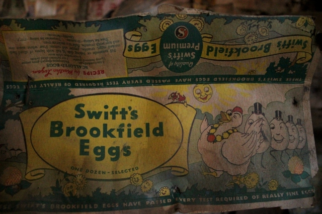 Swift's Brookfield egg carton