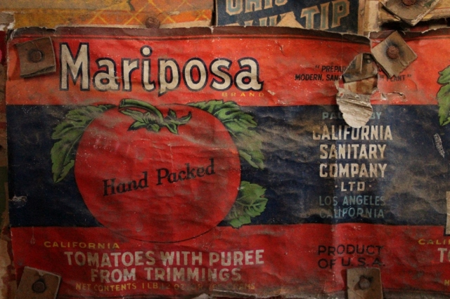 vintage tomato can label