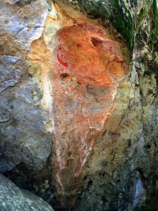 Arrowhead Springs Chumash pictograph rock art santa barbara goleta