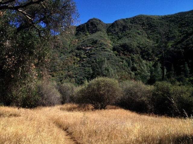 Manzana Creek Trail San Rafael Wilderness hiking