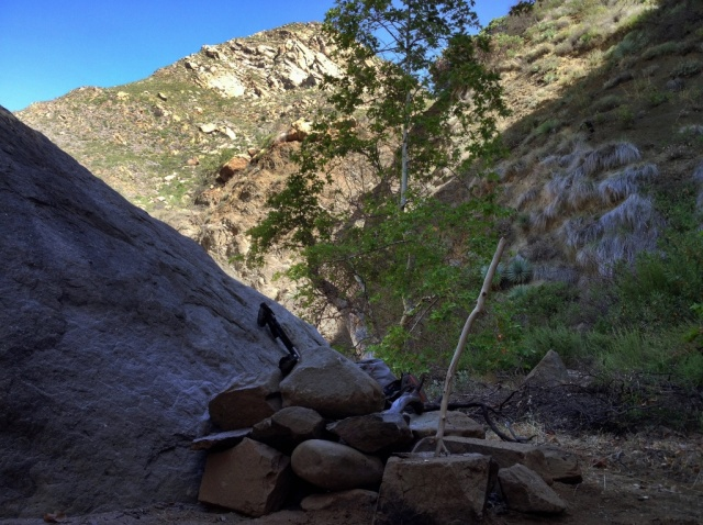 Mono Creek Narrows backcountry camp