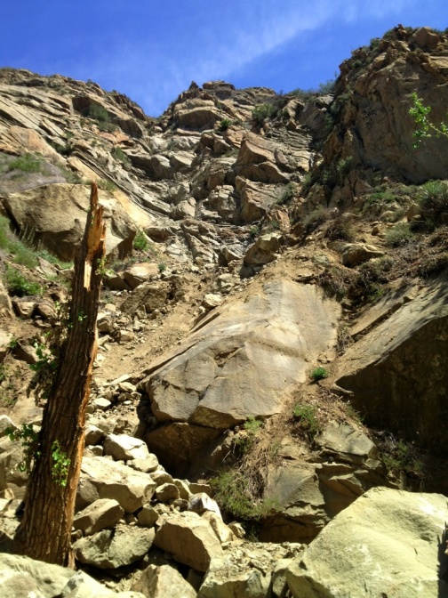 Mono Creek rock slide