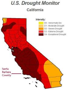 record extreme california drought santa barbara goleta