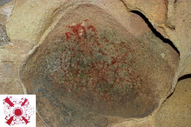 Chumash rock art pictograph painted caves