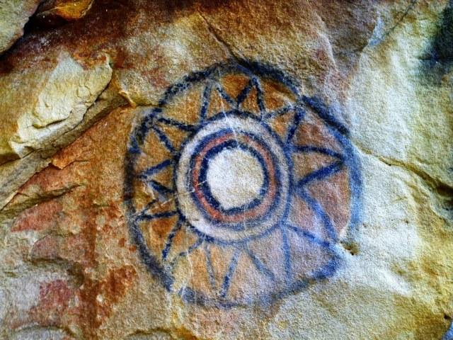 Chumash rock art pictograph santa ynez mountains santa barbara
