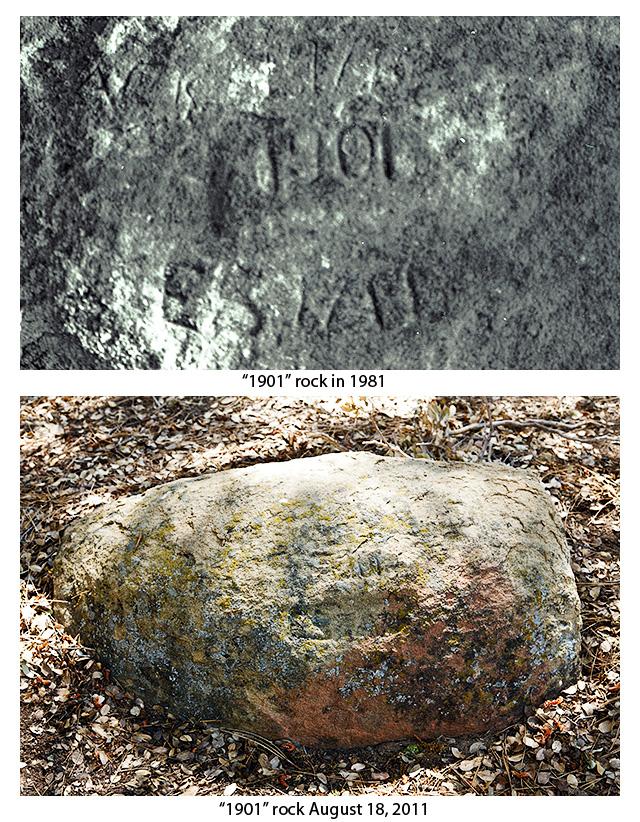 EM Walker Chorro Grande 1901 Rock Carving