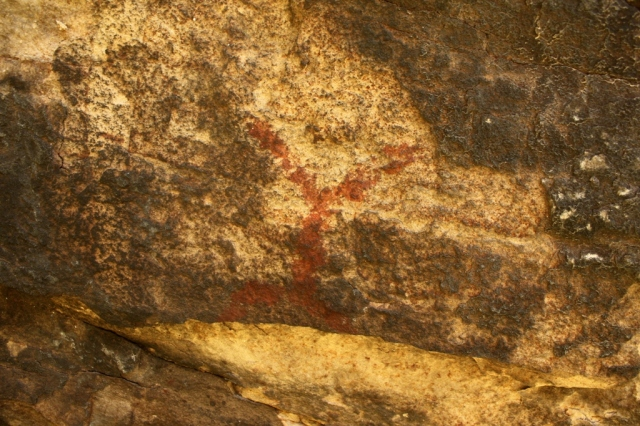 Happy Hunting Ground Chumash Indian pictographs rock art San Rafael Wilderness
