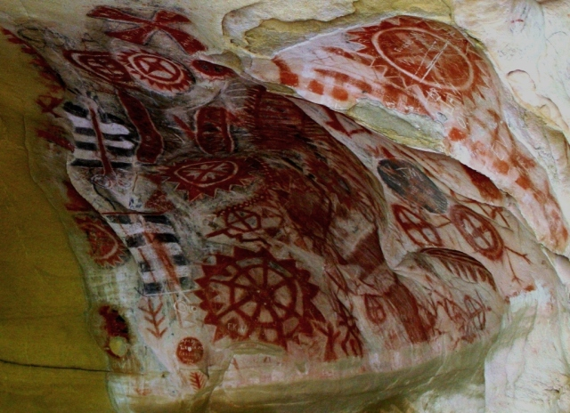 Santa Barbara Chumash Painted Cave rock art pictographs