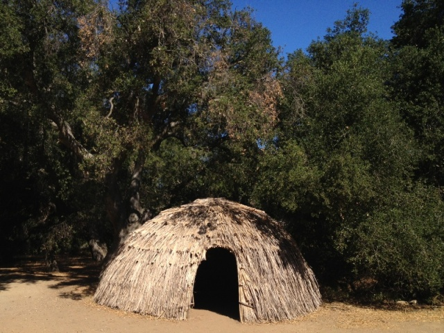 Chumash Village Thatched Tule Hut