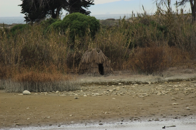 thatched tule hut Ventura River Mouth