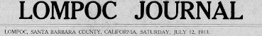 Lompoc Journal Bighorn Sheep 1913