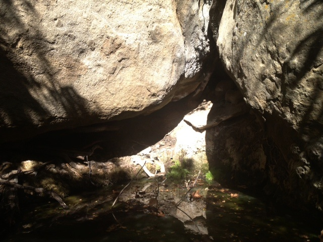 California creek canyon hike