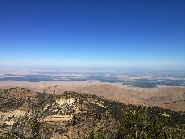 Eagle Rest Peak view of San Joaquin Valley