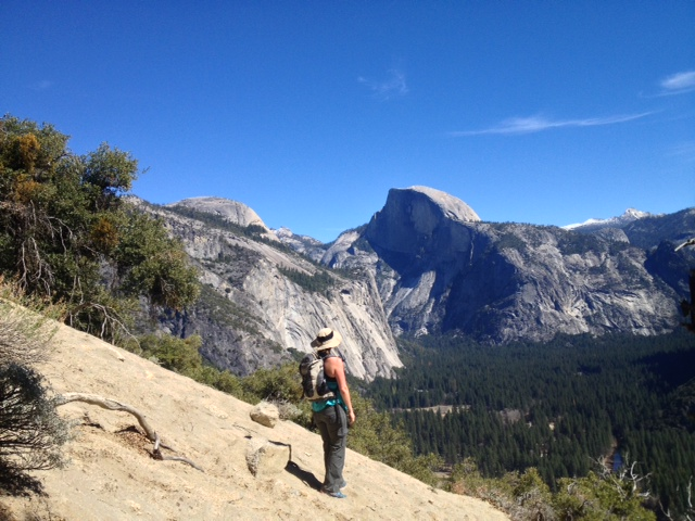 Half Dome Yosemite Falls Trail hike