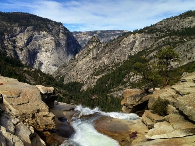 Nevada Falls top Yosemite hiking