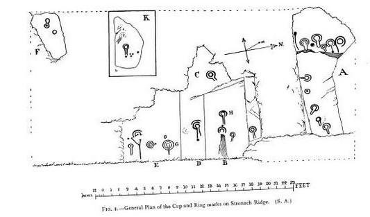 Arran Scotland petroglyphs Stronach Ridge Woods