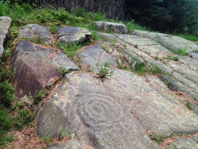 Arran Scotland petroglyphs Stronach wood