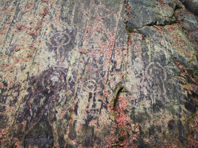 Petroglyphs Arran Scotland hillwalking
