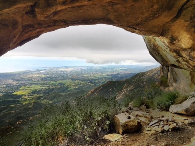 Cathedral Peak cave hike Santa Barbara La Cumbre