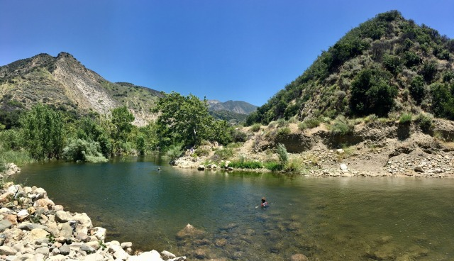 Santa Ynez River swimming summer
